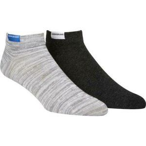 Calvin Klein Jeans Mens Socks Size 7-12 2PK Gray
